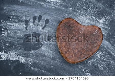 Eller un iki kalp sanat Stok fotoğraf © silent47