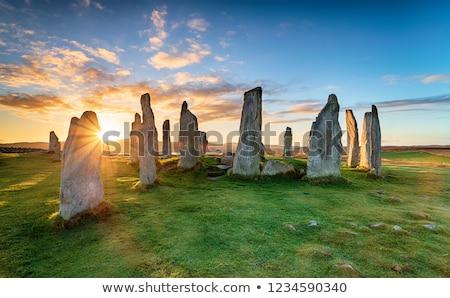 Stałego kamienie starożytnych dramatyczny świetle rock Zdjęcia stock © gewoldi
