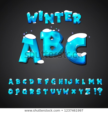 vector editable ice letters Stock photo © PilgrimArtworks