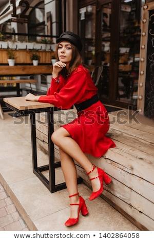 beautiful · girl · minissaia · jovem · mulher · bonita · branco · topo - foto stock © stryjek
