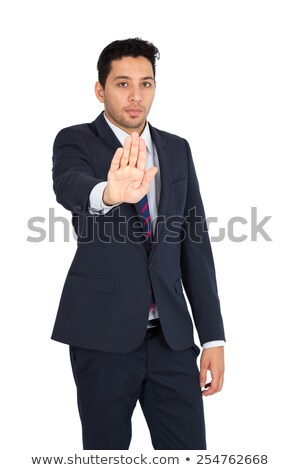 Businessman's hand, warns the difference. Stock photo © justinb