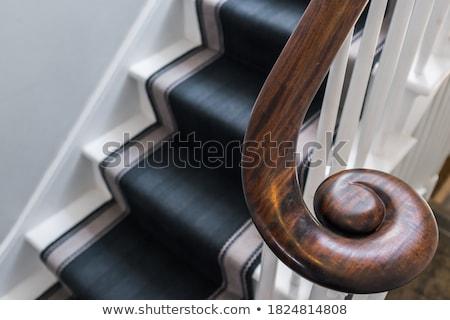 bois · escalier · brisé · up · maison - photo stock © Aliftin