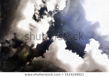Art dramatique sombre nuages ciel printemps Photo stock © Konstanttin