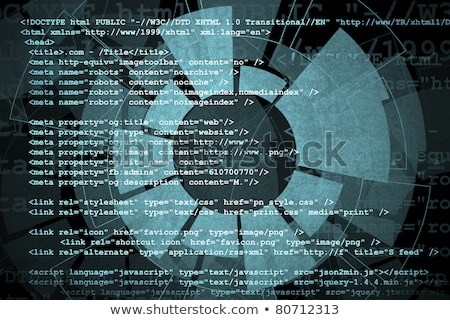 communication concept, microchip and binary code data flow  Stock photo © Artida