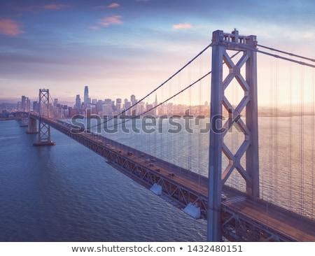 Most miasta centrum noc działalności budynku Zdjęcia stock © kawing921