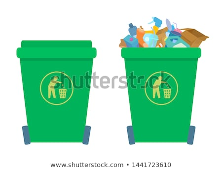 urban trashcan full of bottles Stock photo © smithore