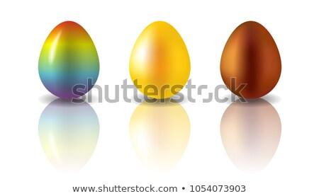 Izole nesneleri gökkuşağı yumurta easter egg yalıtılmış Stok fotoğraf © Dizski
