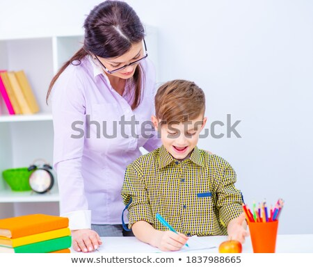 student with notebook with son closeup stock photo © paha_l