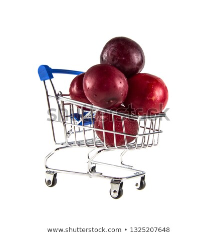 Couple with a basket and trolley full of fresh produce Stock photo © photography33