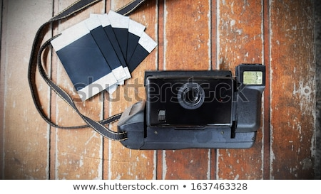Foto stock: Polaroid · madera · ilustración · papel