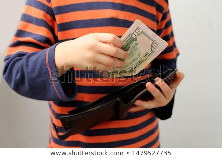 Rubare soldi fuori portafoglio gancio verticale Foto d'archivio © gewoldi
