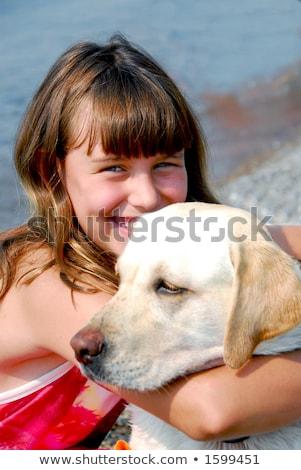 preteen girl at lake stock photo © 2tun