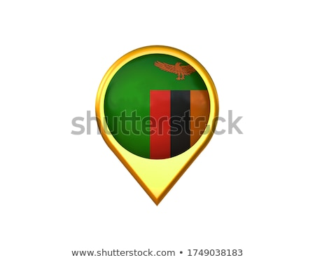 Zambia · zászló · gomb · világ · zöld · kék - stock fotó © zeffss