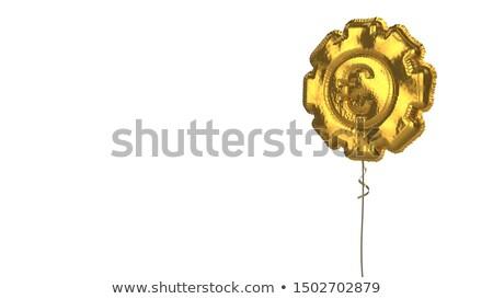 dorado · euros · signo · hombre · de · negocios · blanco · fondo - foto stock © donskarpo