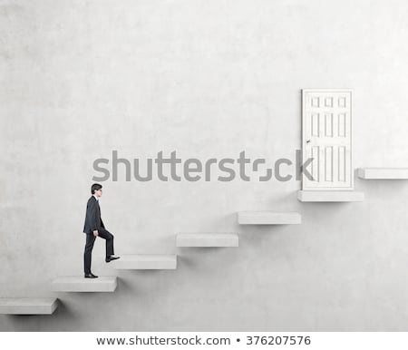 businessman going upstairs stock photo © photography33