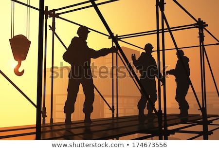A hard-working bricklayer Stock photo © photography33