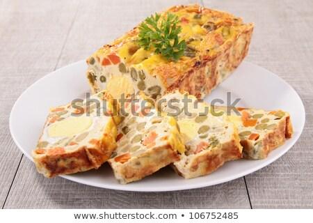 Gemüse Kuchen Essen Karotte Esszimmer frischen Stock foto © M-studio
