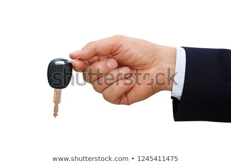 Hand holding black USB key stock photo © Taigi