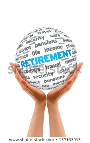 Hands holding a Retirement 3D Sphere Stock photo © kbuntu