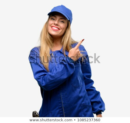 female plumber pointing stock photo © photography33
