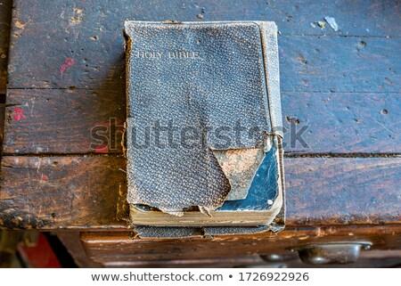 Velho oração banco pedra piso Foto stock © franky242