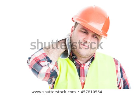 Tense constructon worker Stock photo © photography33