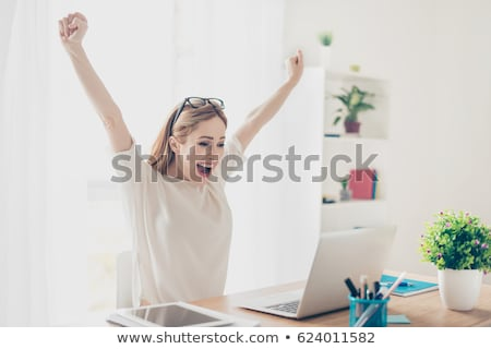 Excited smart woman Stock photo © photography33