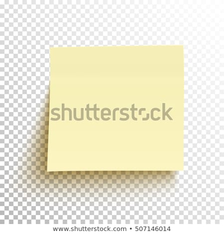 Stock photo: Yellow post it notes