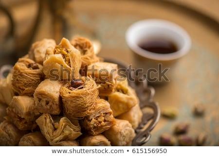 Arabski ciasto żywności deser miodu Zdjęcia stock © M-studio