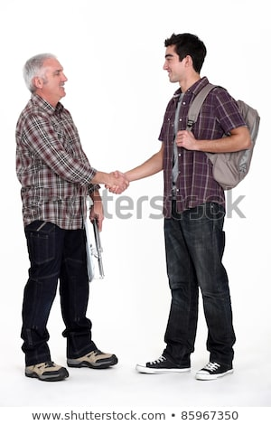 Drżenie rąk ręce budowy tle mężczyzn niebieski Zdjęcia stock © photography33