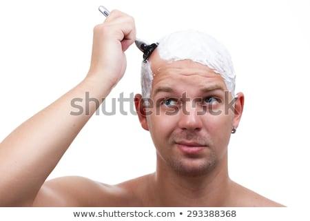 szépség · férfiak · borotva · penge · vág · haj - stock fotó © photography33