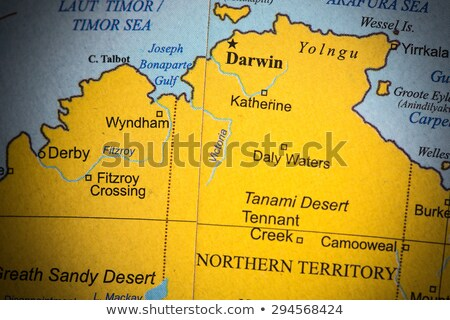 Map of Northern Territory (Australia) stock photo © Schwabenblitz