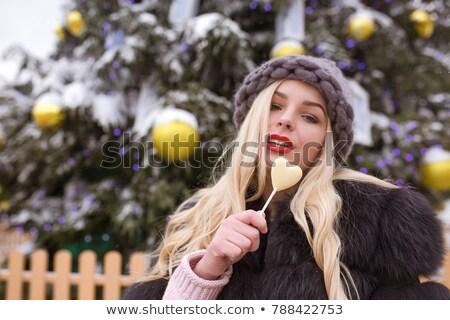 блондинка · еды · Cookie - Сток-фото © stryjek