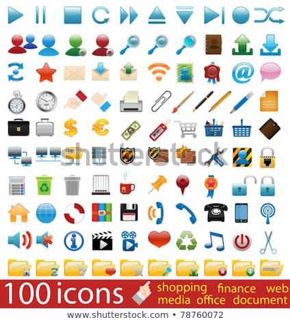 hundred shiny vector icons stock photo © genestro