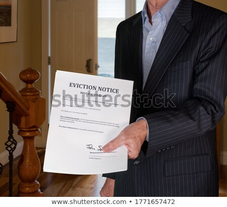 Photo stock: Eviction Notice Letter On Front Door