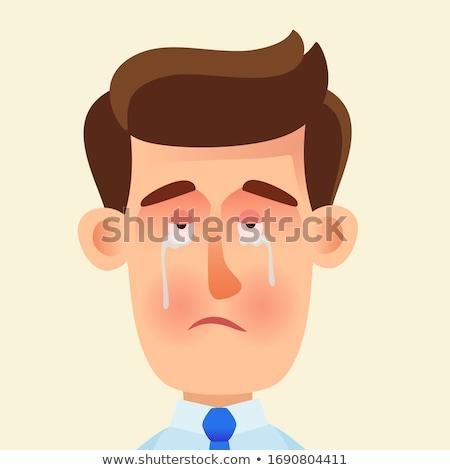 Szívfájdalom izolált férfi sír Stock fotó © aetb