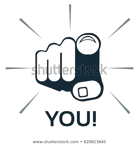 cartoon hand   finger pointing art   vector illustration stock photo © indiwarm