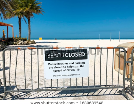 Beach closed sign. Stock photo © oscarcwilliams