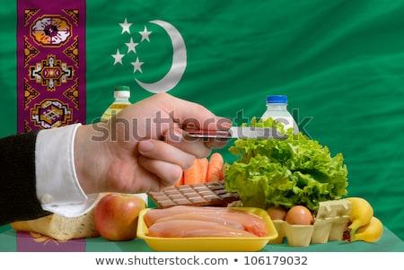 Buying Groceries With Credit Card In Turkmenistan Foto stock © vepar5