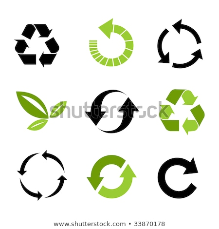 Recycleren iconen stickers symbool knop sticker Stockfoto © mikemcd