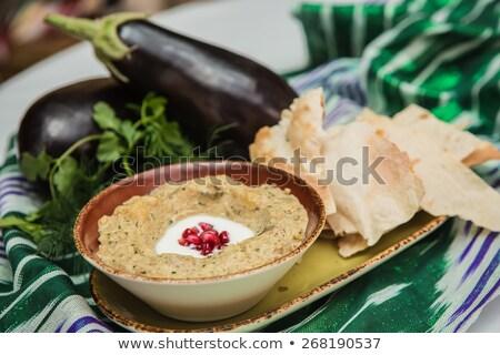 ディップ · ピタ麻 · パン · 栄養価が高い · ブレンド · 油 - ストックフォト © m-studio