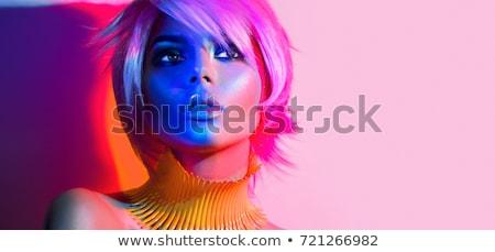 Vivid colored hands Stock photo © tannjuska