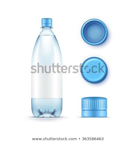 Isolated Silver Plastic Bottle Caps Stock photo © eldadcarin