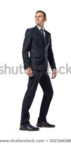 Adam bakıyor geriye doğru omuz orta yaş Stok fotoğraf © scheriton