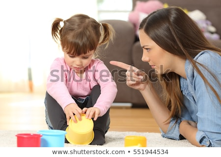 Família brigar mãe filho mulher criança Foto stock © dacasdo