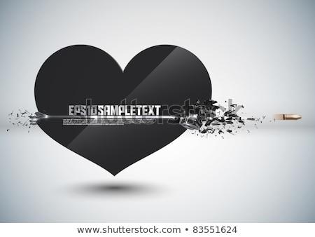 szeretet · szív · cél · valentin · nap · puska · látnivaló - stock fotó © kovacevic