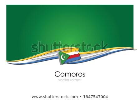 Handdrawn flag of Comoros Stock photo © claudiodivizia