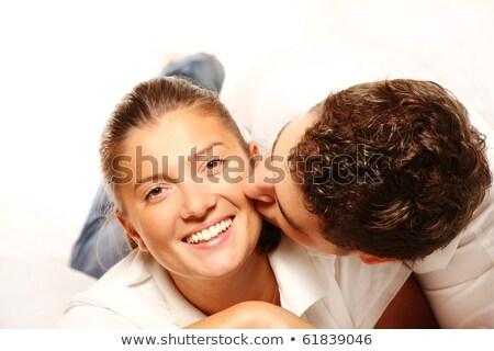 Csók fehér fiatal szenvedély pár heteroszexuális pár Stock fotó © lunamarina
