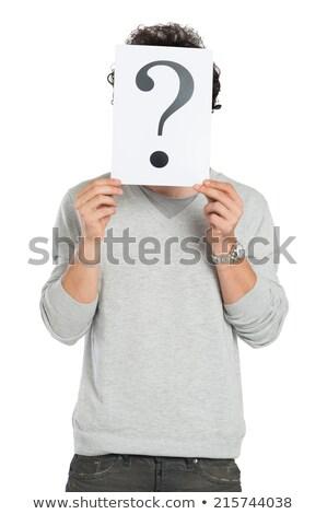 signos · de · interrogación · hombre · confusión · incertidumbre - foto stock © stuartmiles