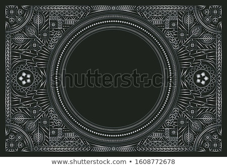 frame with jewels and geometric designs in gold stock photo © yurkina